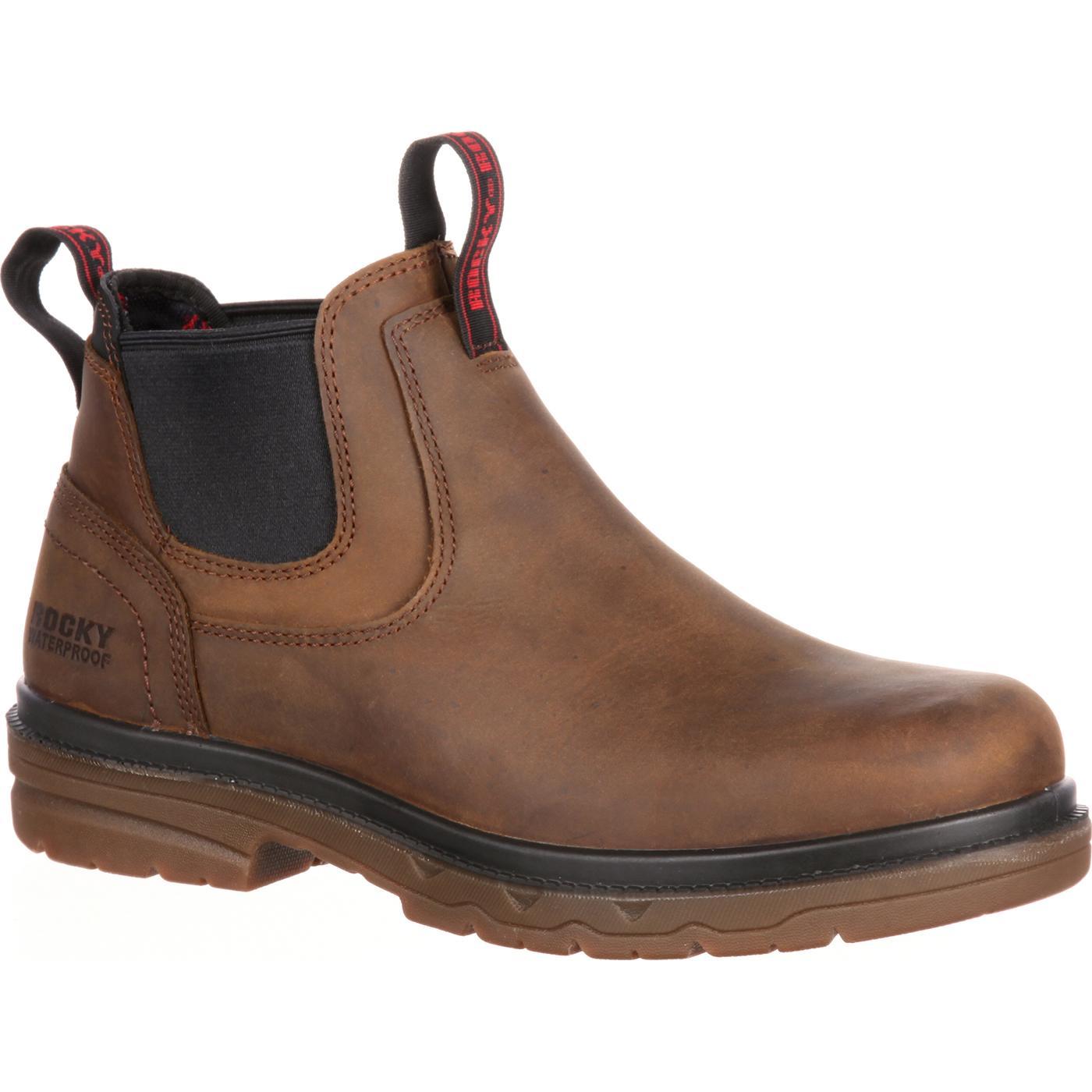 Steel Toe Waterproof Romeo Work Boot  Rocky Elements Shale b51f720ef181