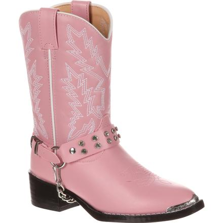 Durango Big Kid Pink Rhinestone Western Boot, , large