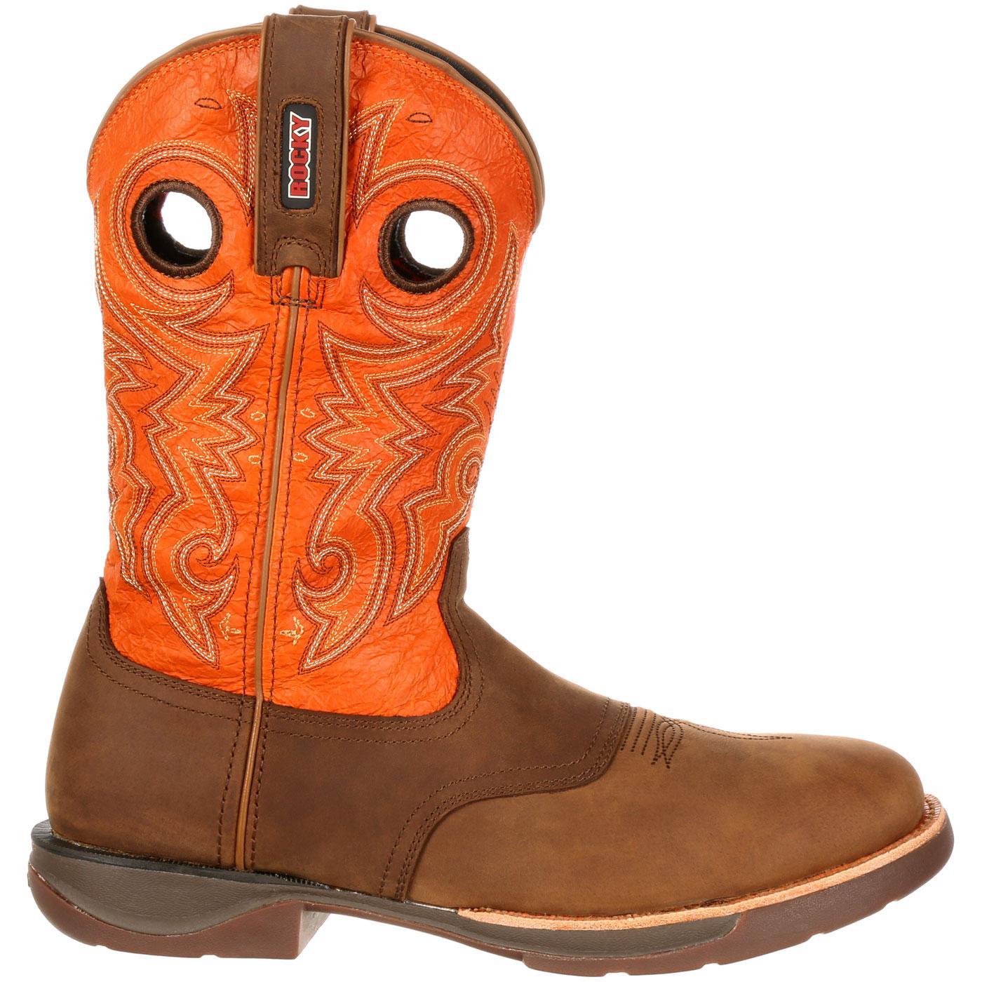 Rocky LT Waterproof Saddle Western Boot