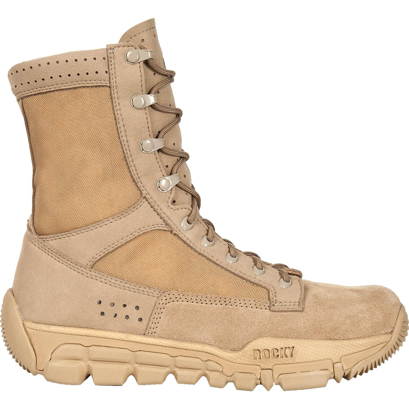 Desert Tan Commercial Military Boots Rocky C5c Rkyc003
