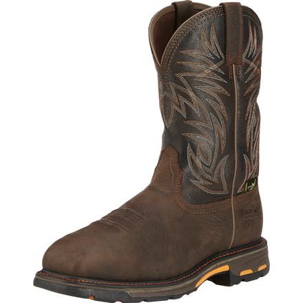 Ariat WorkHog Men's 11 inch Composite Toe Internal Met-Guard Waterproof Western Work Boot, , large
