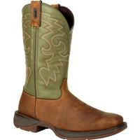 Rebel™ by Durango® Coffee & Cactus Pull-On Western Boot, , medium