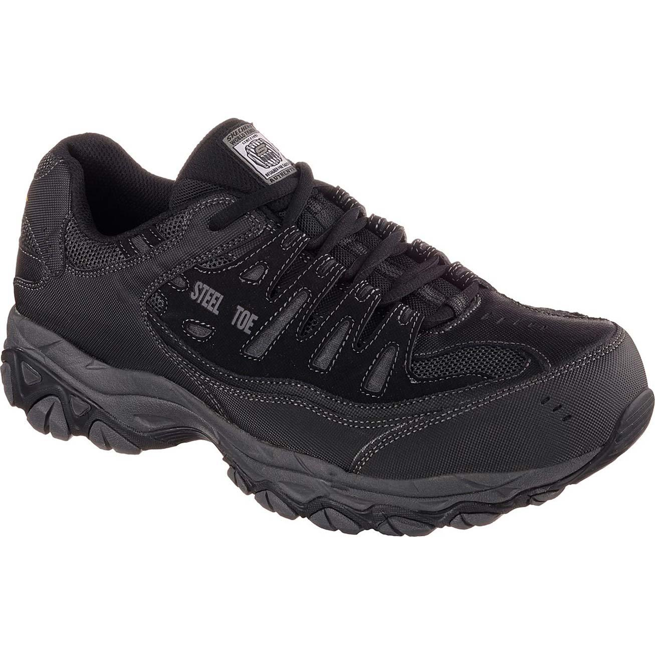 Skechers Work Relaxed Fit Crankton Steel Toe Work Athletic