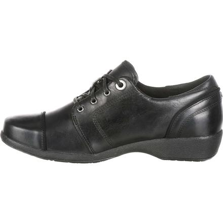 4EurSole Rococo Women's Black Low Wedge Lacer Shoe, , large