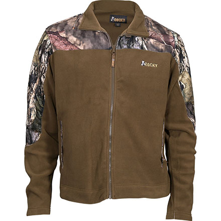 Rocky SilentHunter Fleece Jacket, Mossy Oak Country, large