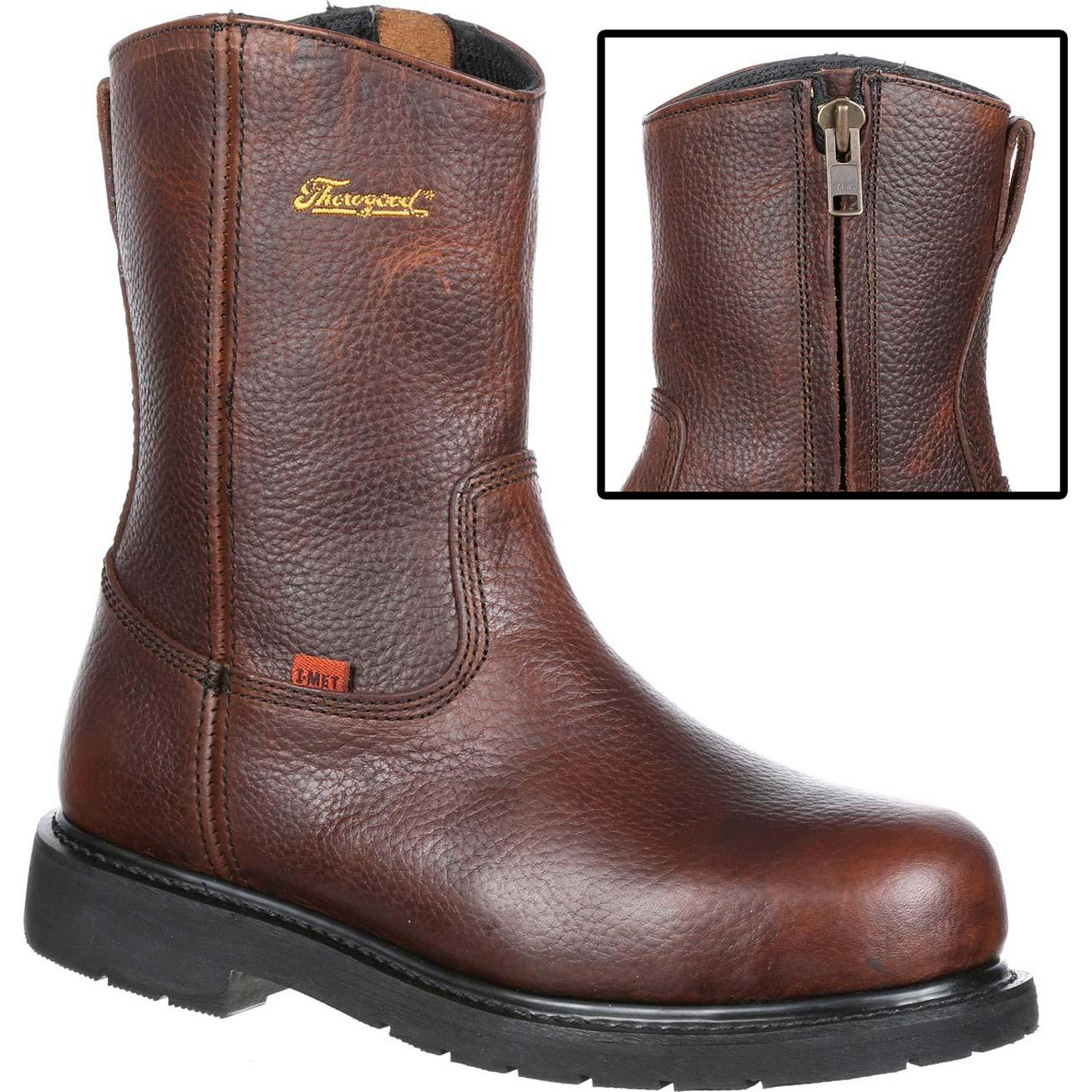 727917509ec Thorogood I-MET2 Side-Zip Steel Toe Met-Guard Work Wellington