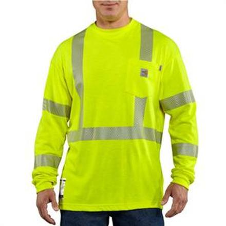 Carhartt Flame-Resistant High-Visibility Long-Sleeve T-Shirt Class 3