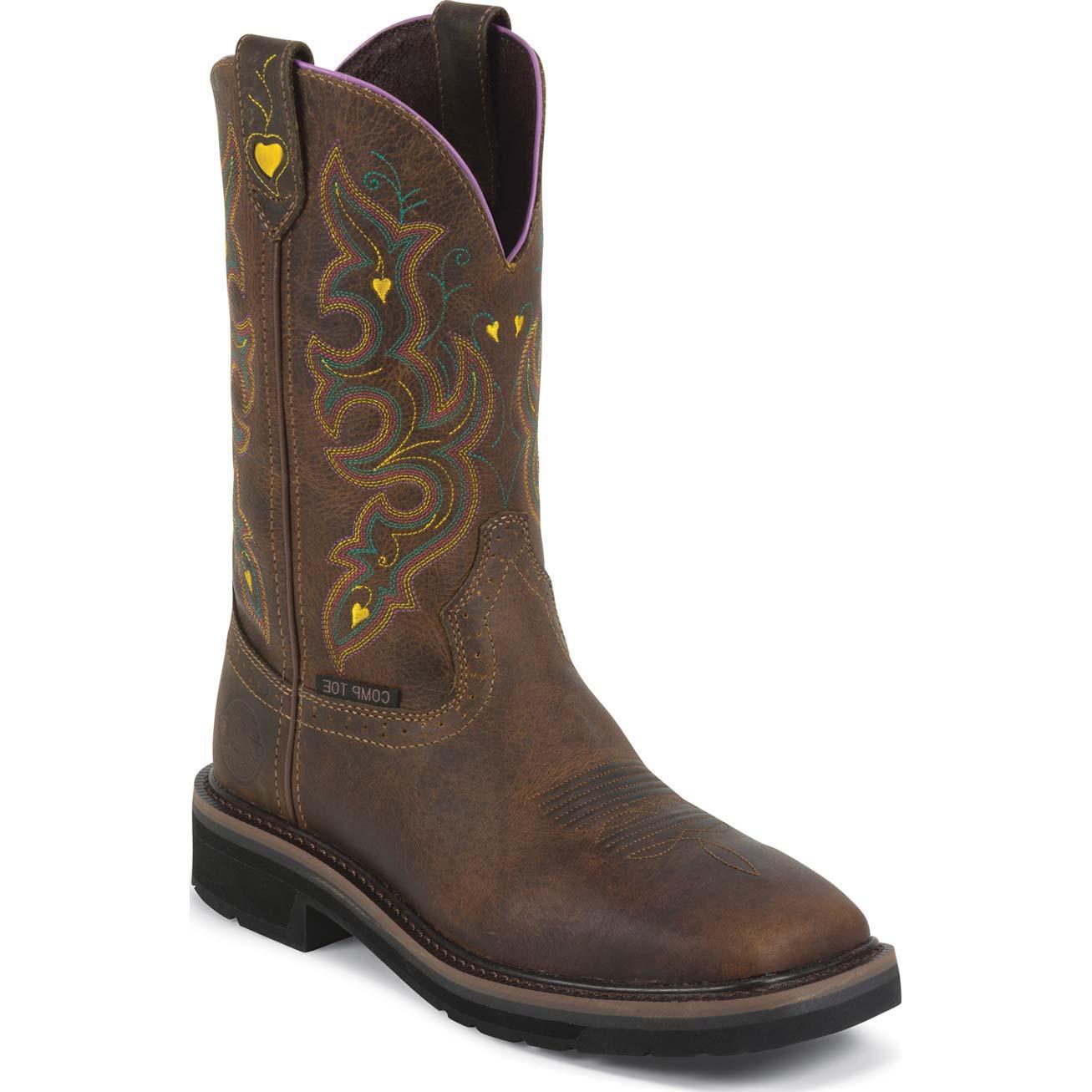 Justin Work Women S Composite Toe Western Work Boot Jwkl4664