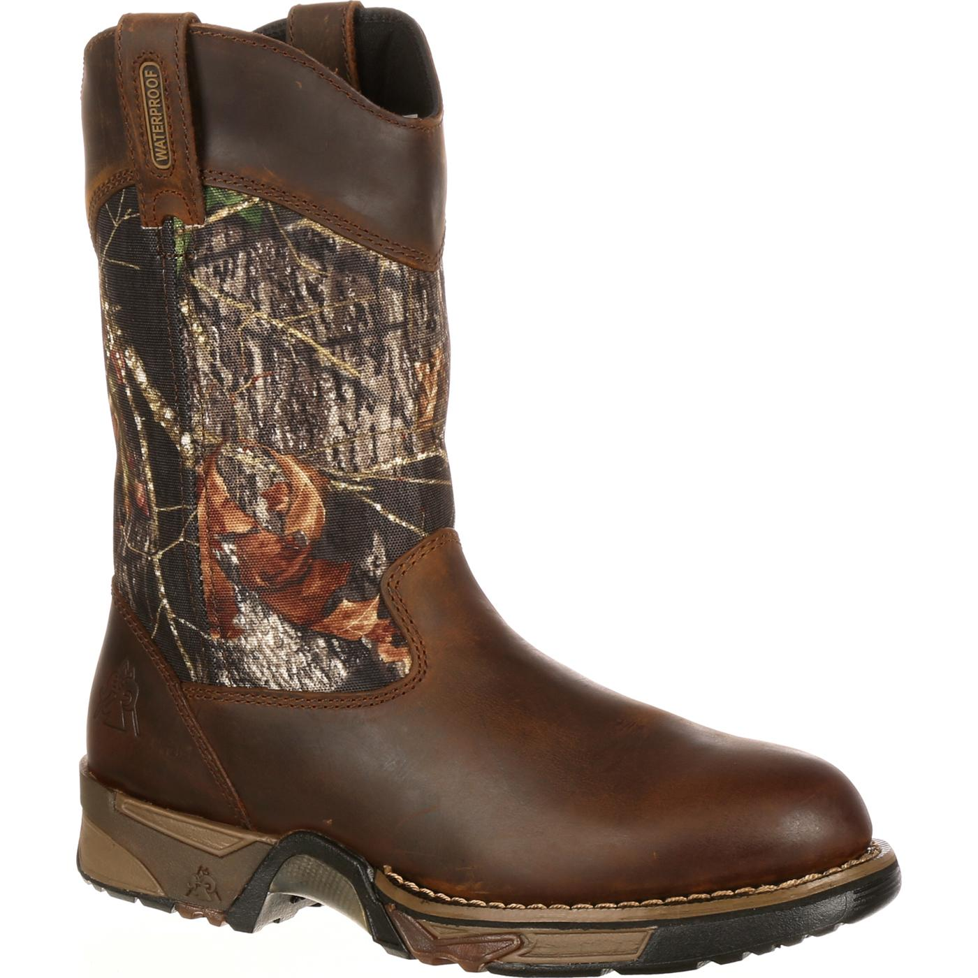 a2b7a0f370e Rocky Aztec Waterproof Camo Pull-On Boots