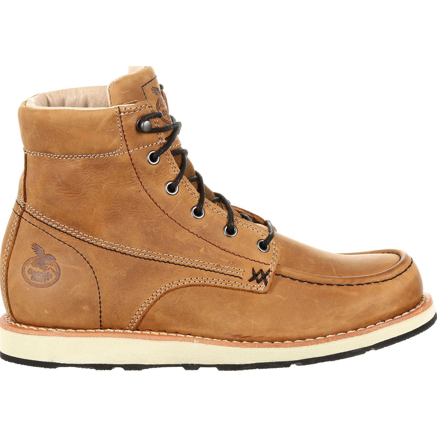 32143e95261 Georgia Boot Small Batch Wedge Brown Boot