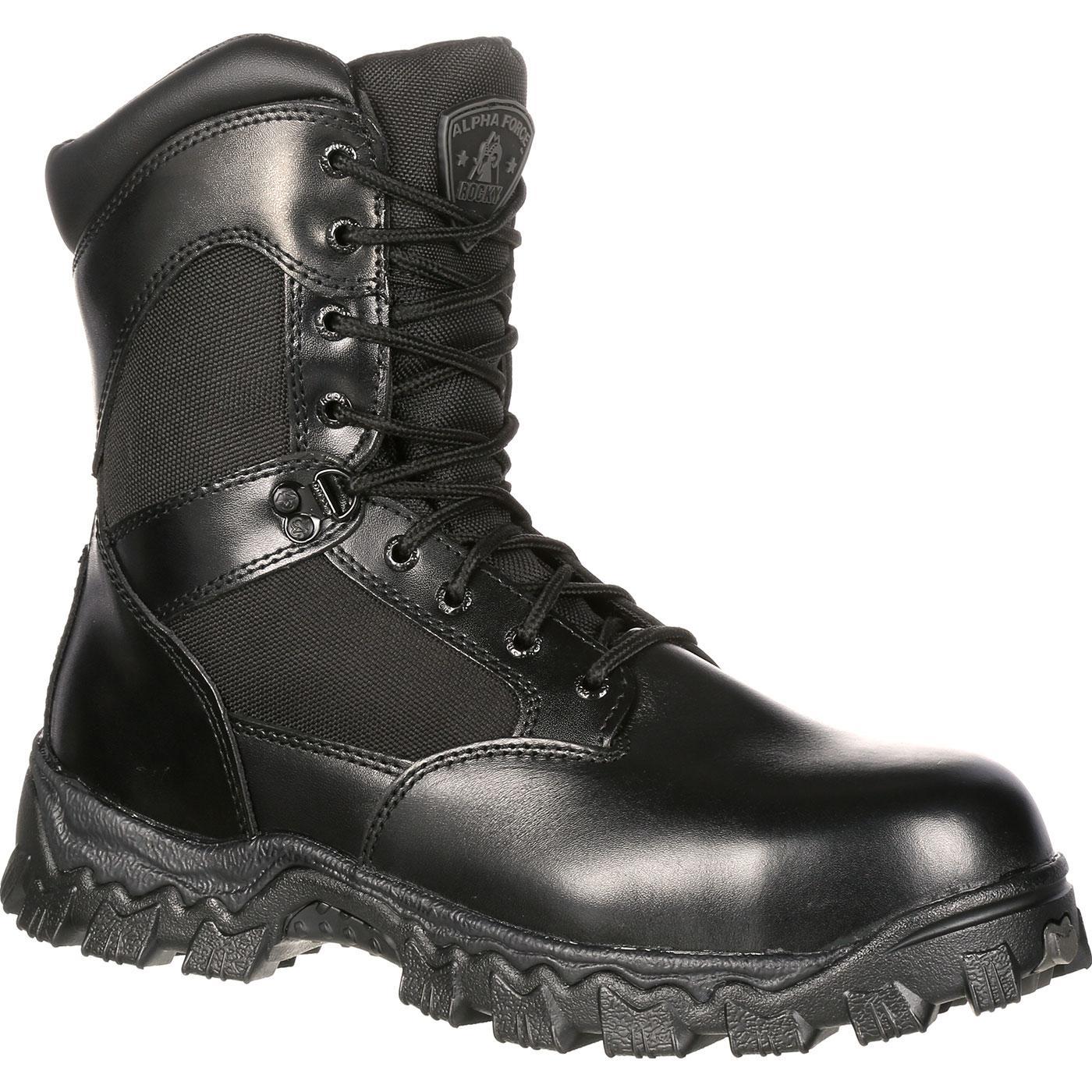 dc4cf634c45 Rocky AlphaForce Zipper Waterproof Duty Boot