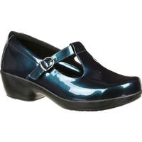 4Eursole Comfort 4Ever Women's Metallic Blue T-Strap Shoe, , medium