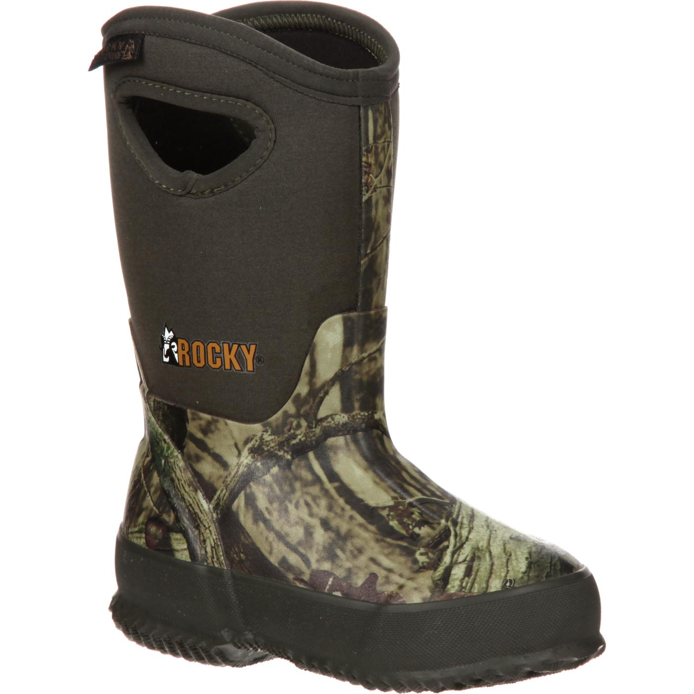 Kids Rubber Waterproof Insulated Pull On Boot Rocky Core