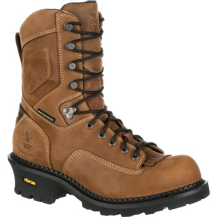 Georgia Boot Comfort Core Composite Toe Waterproof Insulated Logger Work Boot, , large