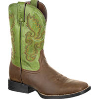 Justin Farm and Ranch Hinton Men's Green Pull-on Boots, , medium