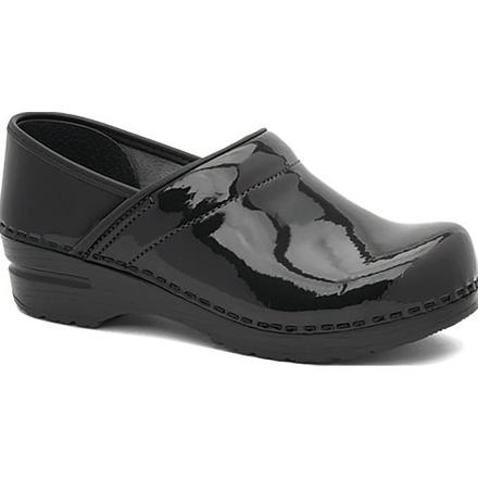 Dansko Professional Women's Black Patent Leather Clog, , large
