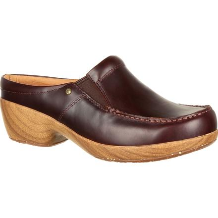 4Eursole Comfort 4Ever Women's Mahogany Moc-Toe Slide