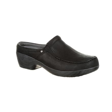 4Eursole Comfort 4Ever Women's Black Moc-Toe Slide