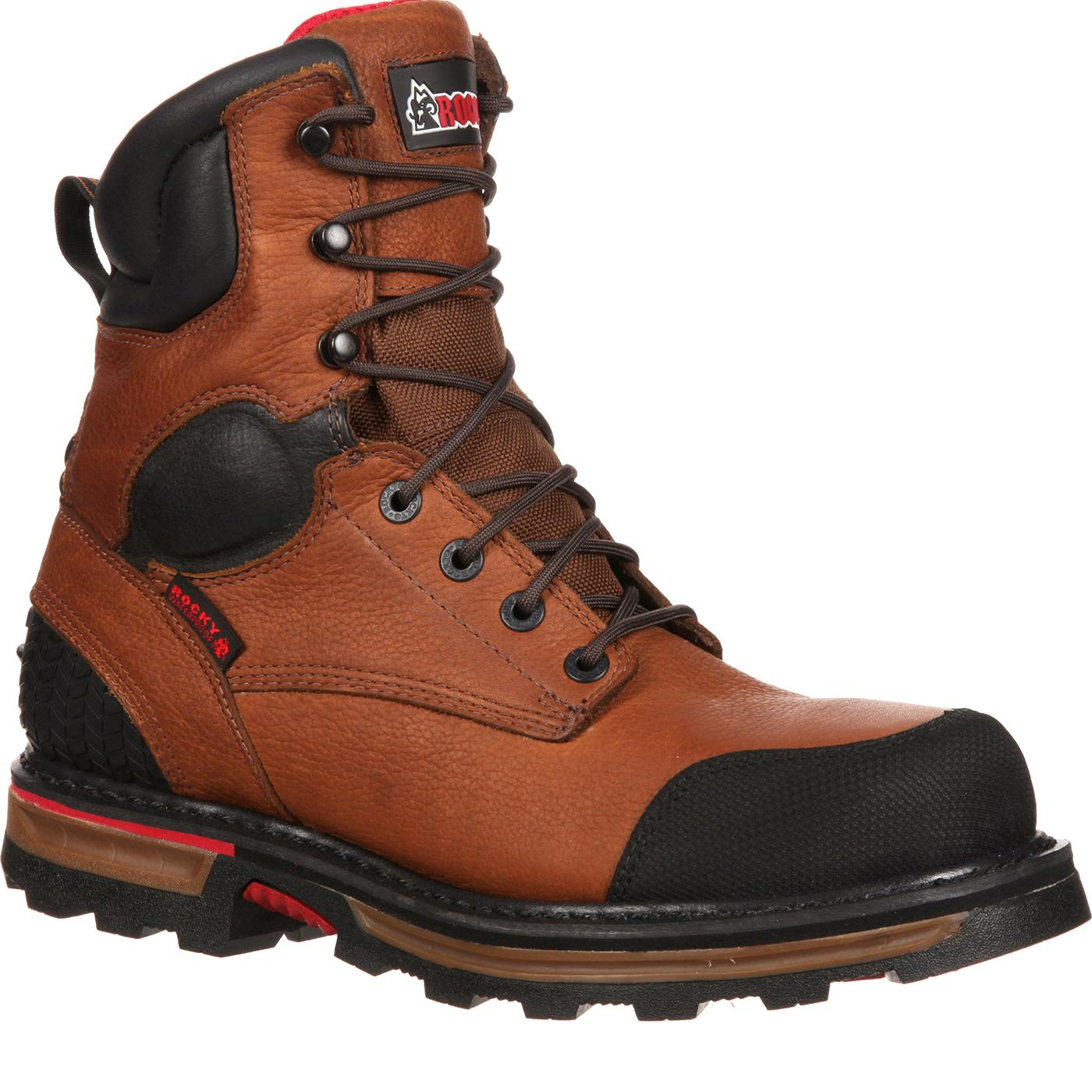Steel Toe Work Boots designed to combat dirt ROCKY BOOT deb8638dc