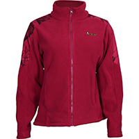 Rocky Women's Full Zip Fleece Jacket, Red Mossy Oak, medium