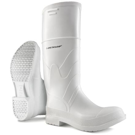 Dunlop White PVC 15 inch Steel Toe Waterproof Work Boot