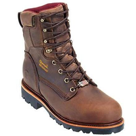 Chippewa Steel Toe Waterproof Insulated Lace-Up Work Boot