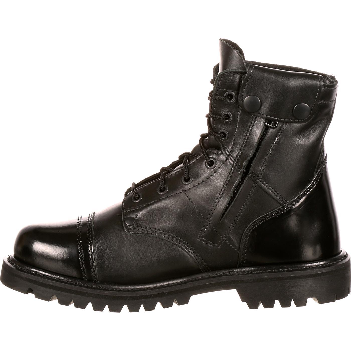 a9f39a0ab23 Men's Black Side Zipper 7-Inch Jump Boot, Rocky Duty Boots