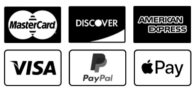 Payment Methods Include PayPal, Apple Pay and Credit cards