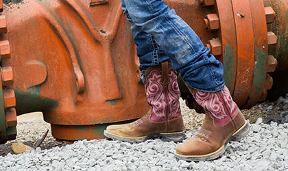 womens composite toe boots
