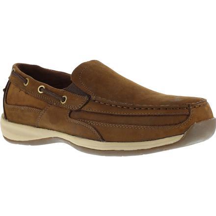 rockport steel toe boat shoe slip on rk6737